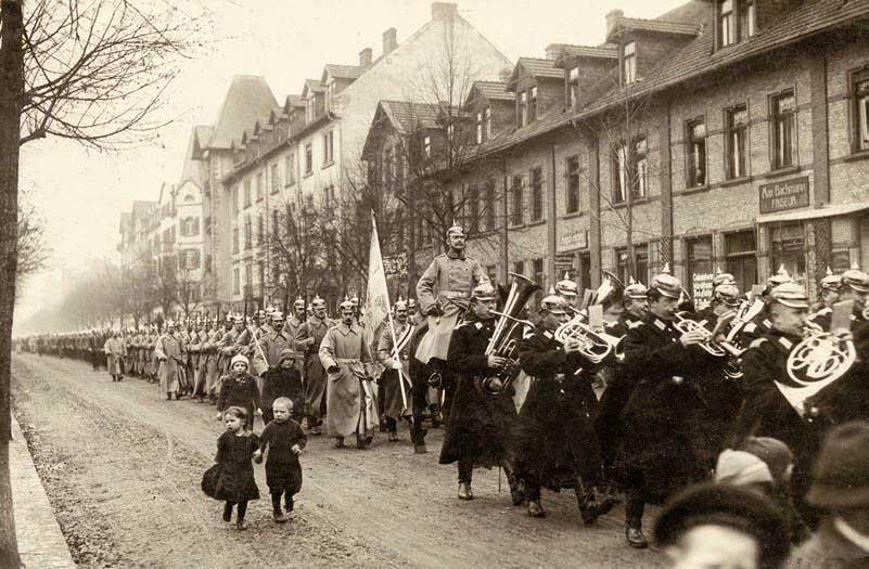 Ausmarsch der Hanauer Garnison